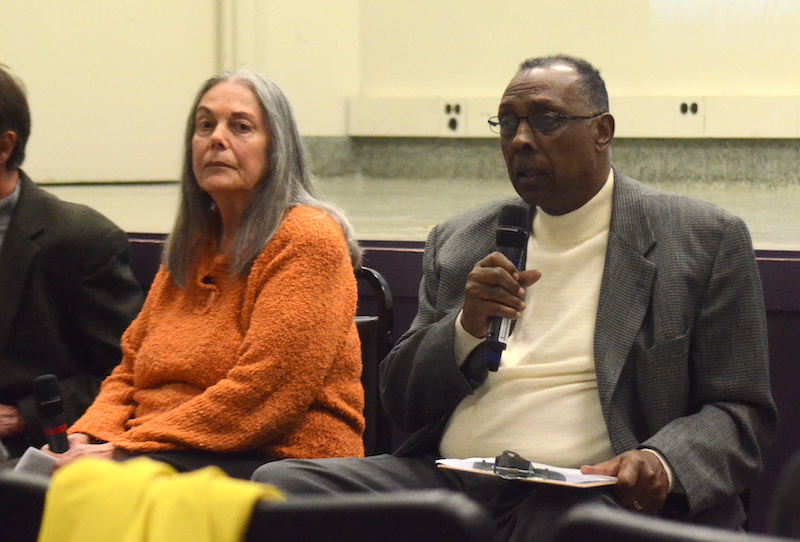 Signe Waller Foxworth and the Rev. Nelson Johnson